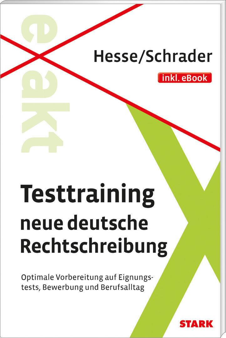 Testtraing Buch Neue Deutsche Rechtschreibung 9783849013370