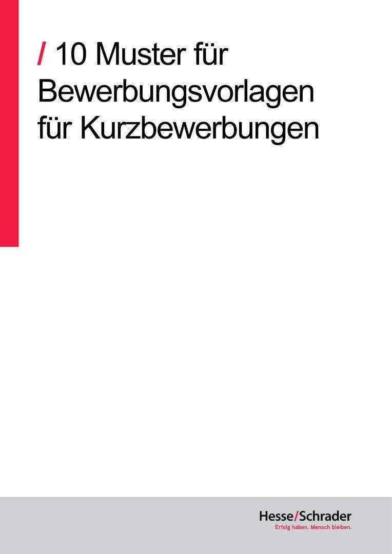 download 10 vorlagen fr kurzbewerbungen - Bewerbungs Vorlagen