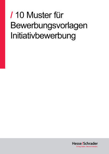Download: 10 Vorlagen Initiativbewerbung