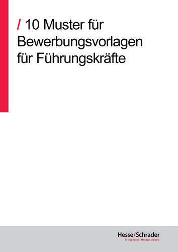 Hesseschrader Bücher Bewerbung Bewerbungsunterlagen